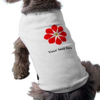 Elegant Red Flower Doggie T Shirt
