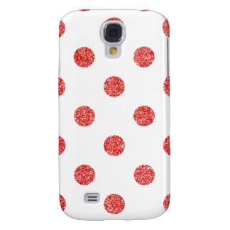 Elegant Red Glitter Polka Dots Pattern
