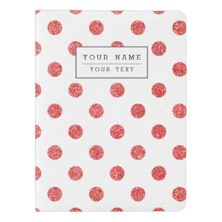Elegant Red Glitter Polka Dots Pattern Extra Large Moleskine Notebook