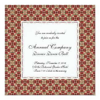 Elegant Red, Gold and Black Oriental Damask Card