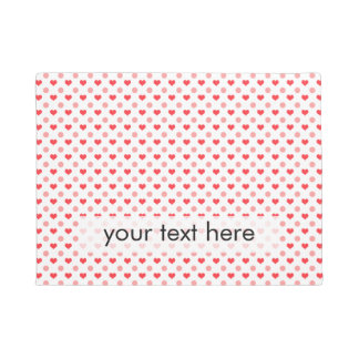 elegant red hearts and pink polka dots pattern doormat