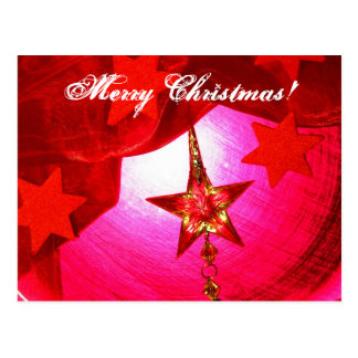 Elegant Red Holiday Decorations Postcard