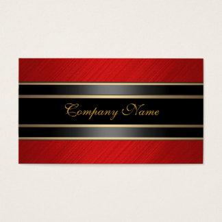 Elegant Red Metal Black Bronze Business Card