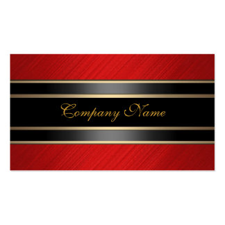 Elegant Red Metal Black Bronze Pack Of Standard Business Cards