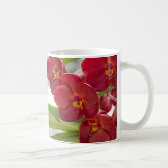 Elegant Red Orchids Photo Coffee Mug
