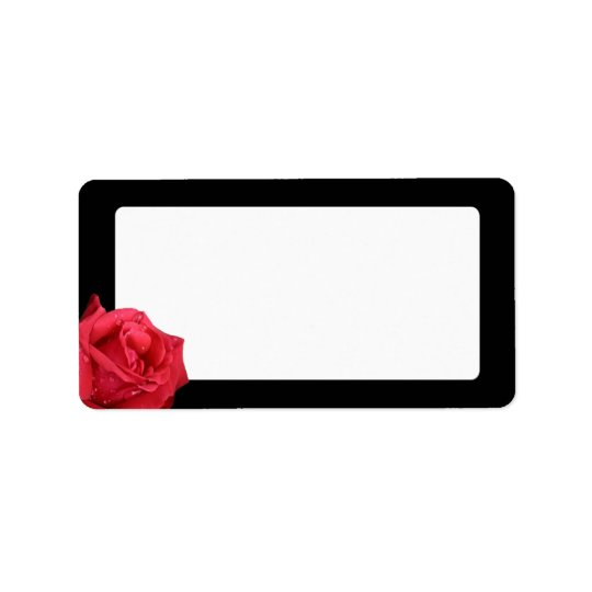 Elegant Red Rose Address Labels
