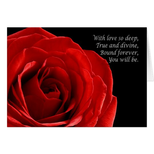 Elegant Red Rose anniversary couple general Card