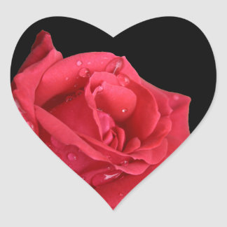 Elegant Red Rose Envelope Seals Heart Sticker