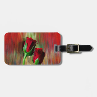 Elegant Red Rose Luggage Tag