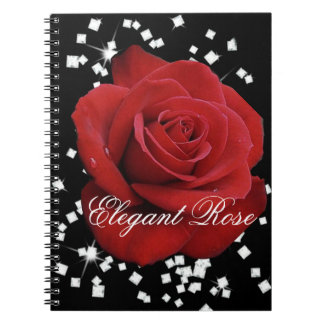 Elegant Red Rose Notebook