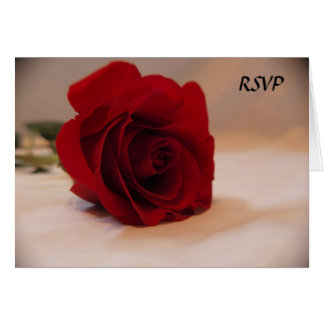 Elegant Red Rose RSVP Card