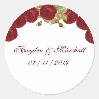 Elegant Red Rose Stickers