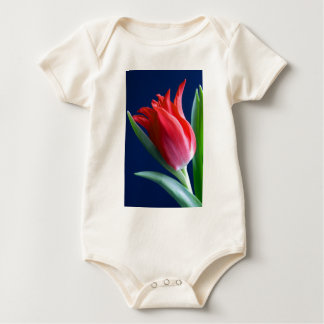 Elegant red tulip baby bodysuit