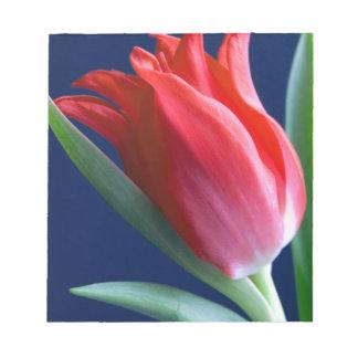 Elegant red tulip notepad