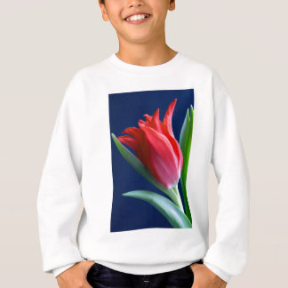 Elegant red tulip sweatshirt