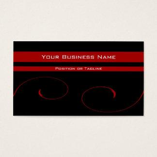 Elegant Red Vines Business Card
