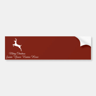 Elegant Reindeer Silhouette Christmas Greetings Bumper Sticker