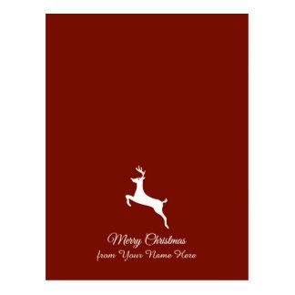 Elegant Reindeer Silhouette Christmas Greetings Postcard
