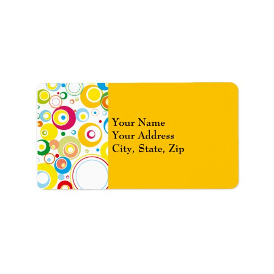 Elegant retro Address Label