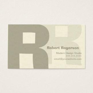 Elegant Retro Big Double Letter R Business Card