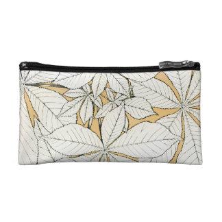Elegant retro Leaf Pattern Makeup Bag