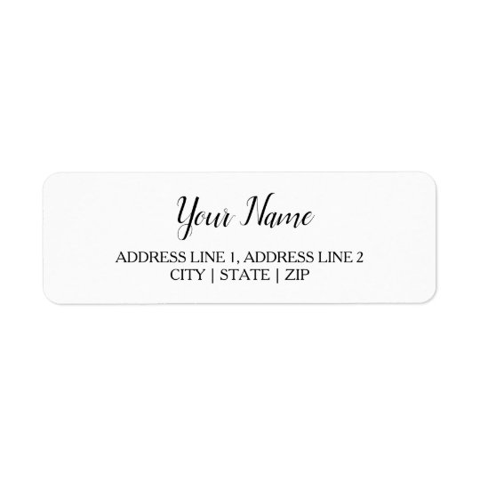 Elegant Return Address Labels | White