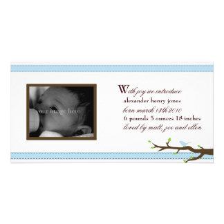 Elegant Ribbon Announcement Custom Photo Card