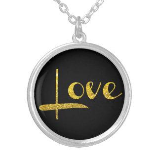 *~* Elegant Rich Gold Glitter Love Necklace