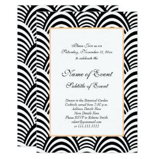 Elegant Roaring 20s Black and White Jazz Wedding Card