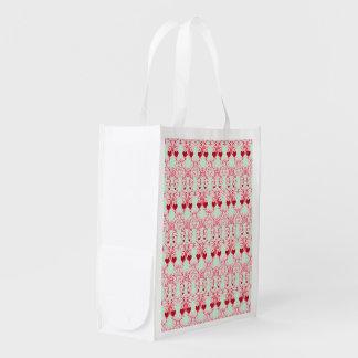 Elegant Romance Reusable Grocery Bags