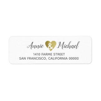 elegant romantic wedding bride groom address