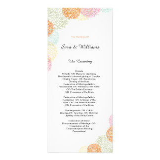 Elegant Romantic Wedding Program