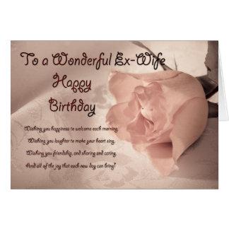 Elegant rose birthday card for ex-wife