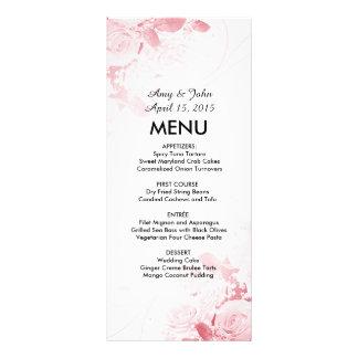 Elegant rose bouquet wedding menu vr3