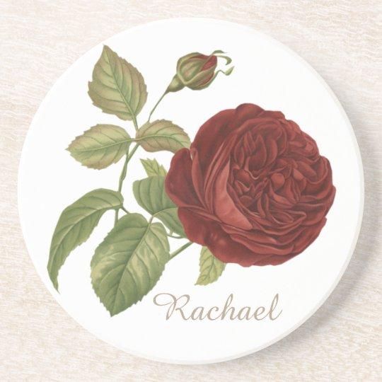 Elegant Rose Coaster