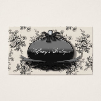 Elegant Rose Damask Fashion Boutique Busines Cards