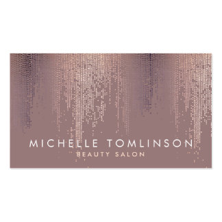 Elegant Rose Gold Confetti Dots Business Card
