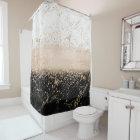 Elegant rose gold confetti marble design