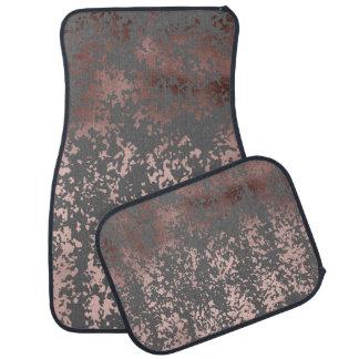 elegant rose gold foil and grey brushstrokes auto mat