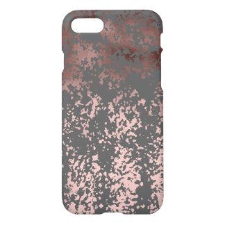 elegant rose gold foil and grey brushstrokes iPhone 7 case