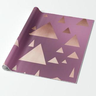 elegant rose gold foil geometric triangles