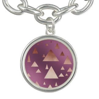 elegant rose gold foil geometric triangles bracelets