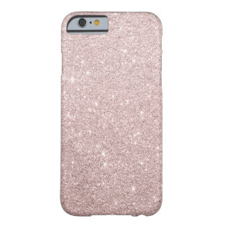 elegant rose gold glitter barely there iPhone 6 case