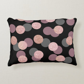 elegant rose gold glitter pastel pink confetti accent pillow