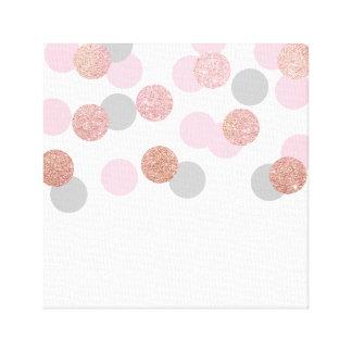 elegant rose gold glitter pastel pink confetti canvas print