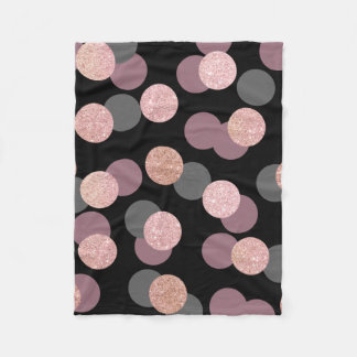 elegant rose gold glitter pastel pink confetti fleece blanket