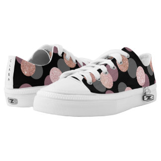 elegant rose gold glitter pastel pink confetti Low-Top sneakers