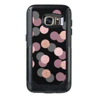 elegant rose gold glitter pastel pink confetti OtterBox samsung galaxy s7 case