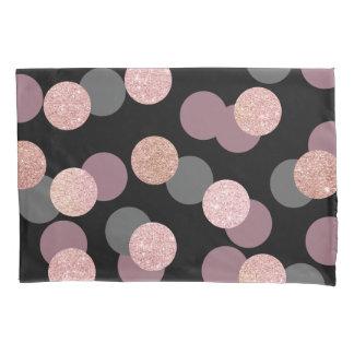 elegant rose gold glitter pastel pink confetti pillowcase