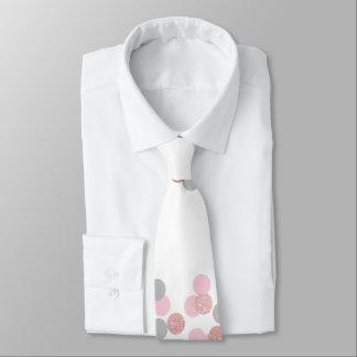 elegant rose gold glitter pastel pink confetti tie